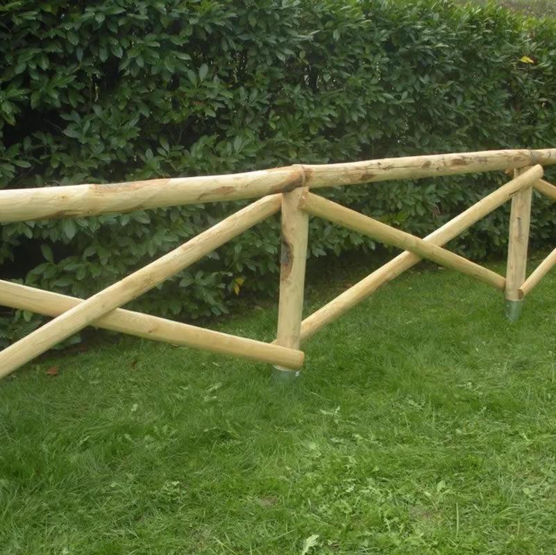 Realizzazione staccionate recinzioni legno a maglia sciolta elettrosaldata siena firenze - Staccionate da giardino ...